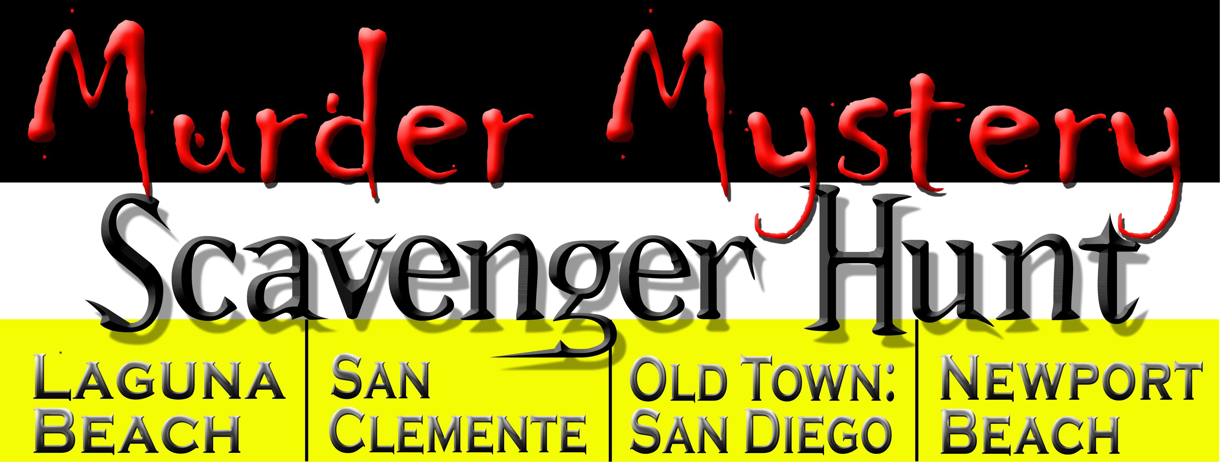 A Murder Mystery Scavenger Hunt