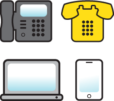 different types of phones and devices