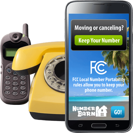 Port your number from any phone service